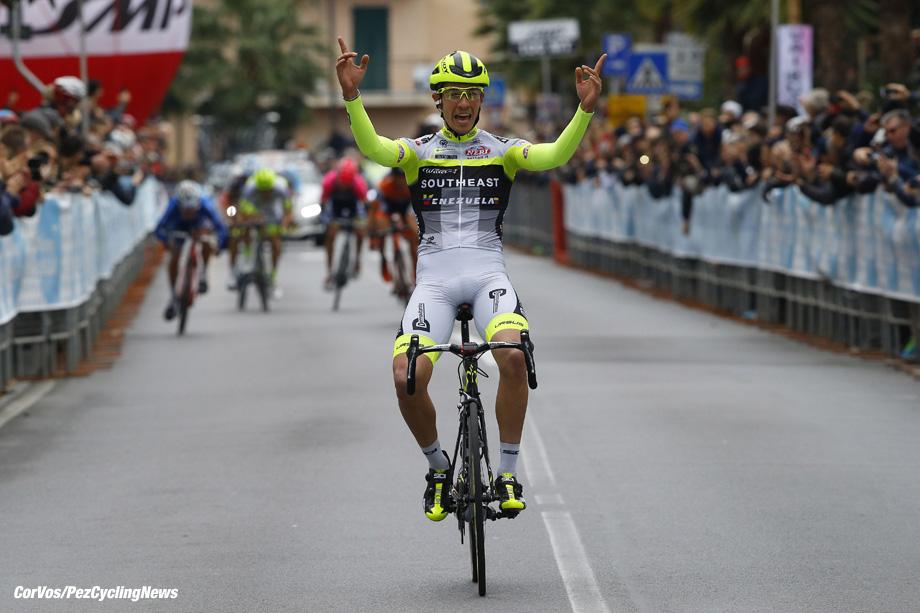 Laigueglia - Italis - wielrennen - cycling - radsport - cyclisme - Andrea Fedi (Southeast - Venezuela) pictured during the 53rd Trofeo Laigueglia 2016 - Laigueglia - Laigueglia 192 km - 14/02/2016 - photo LB/RB/Cor Vos © 2016