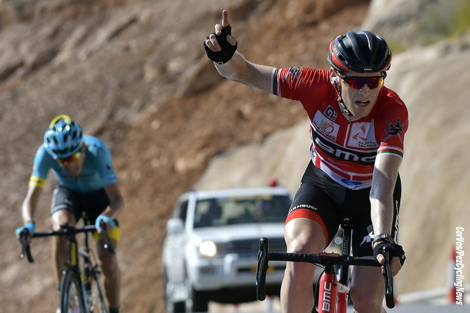 Jebel Akhdar (Green Mountain) - Oman - wielrennen - cycling - radsport - cyclisme - Ben HERMANS (Belgium / BMC Racing Team)   - Fabio ARU (Italy / Team Astana)  pictured during Tour of Oman stage 5 - from Samail > Jebel Akhdar (Green Mountain) (152.5 km) - photo PdV/PN/Cor Vos © 2017