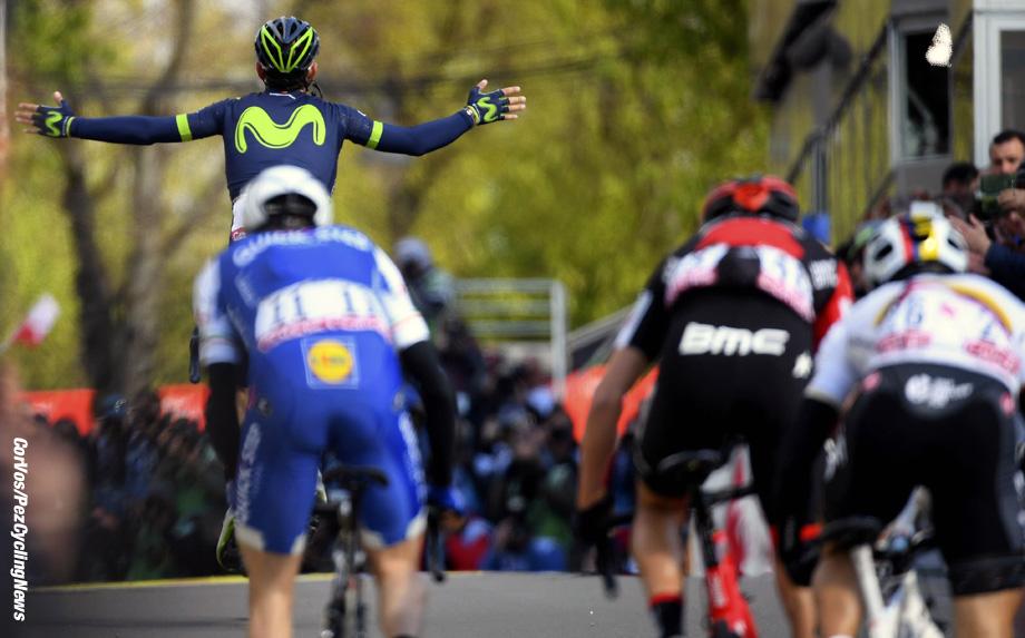 Huy - Belgium - wielrennen - cycling - cyclisme - radsport - illustration - VALVERDE BELMONTE Alejandro (ESP) Rider of Movistar pictured during the Fleche Wallone 2017 - foto VK/PN/Cor Vos © 2017