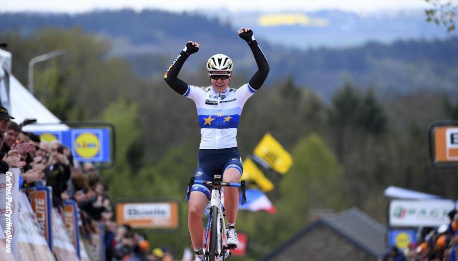 Huy - Belgium - wielrennen - cycling - cyclisme - radsport - Anna Van der Breggen (Netherlands Boels Dolmans) pictured during the Fleche Wallone women - foto VK/PN/Cor Vos © 2017