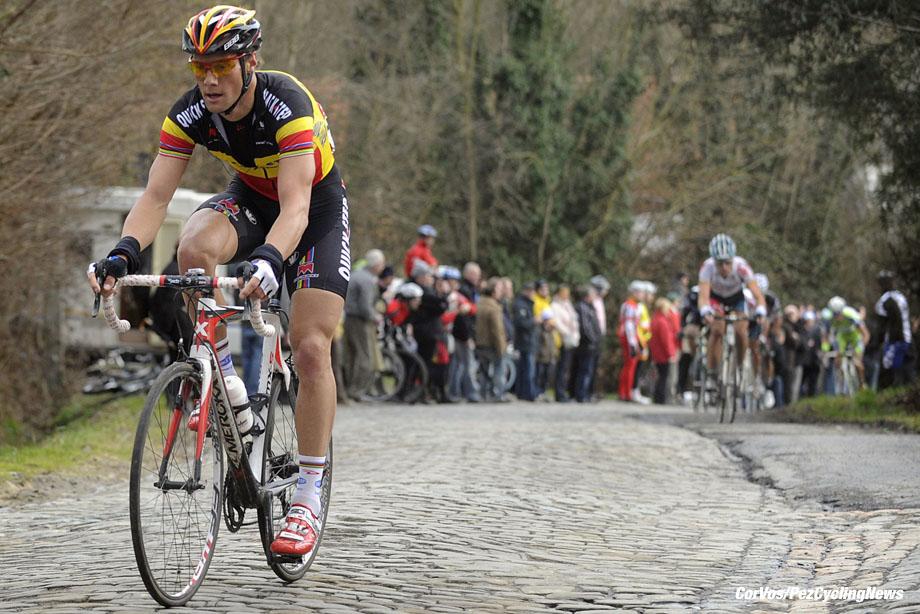 Gent - Belgie - wielrennen - cycling - radsport - cyclisme - Omloop van het Nieuwsblad - Tom Boonen (Quick Step - Quickstep) - foto Wessel van Keuk/Cor Vos ©2010
