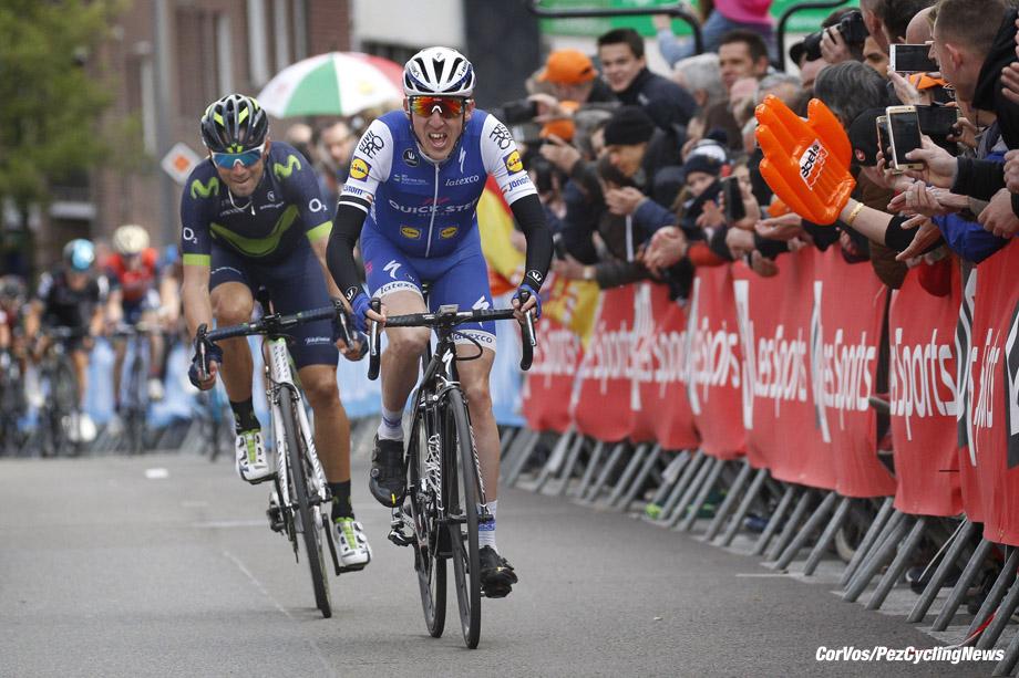 Liege - Belgium - wielrennen - cycling - cyclisme - radsport - Daniel MARTIN (Ireland / Team Quick Step - Floors) - Alejandro VALVERDE BELMONTE (Spain / Team Movistar) pictured during Liege - Bastogne - Liege 2017 - UCI Worldtour - foto Dion Kerckhoffs/Cor Vos ¨© 2017