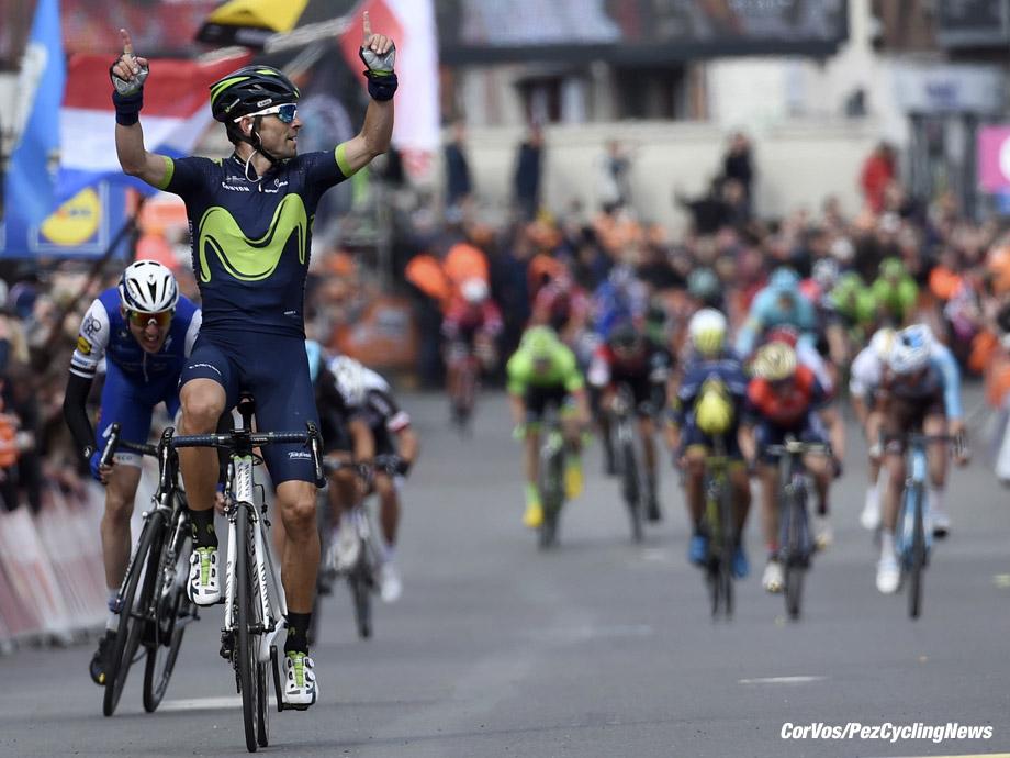 Liege - Belgium - wielrennen - cycling - cyclisme - radsport - Alejandro VALVERDE BELMONTE (Spain / Team Movistar) - Daniel MARTIN (Ireland / Team Quick Step - Floors) pictured during Liege - Bastogne - Liege 2017 - UCI Worldtour - foto VK/PN/Cor Vos ¨© 2017