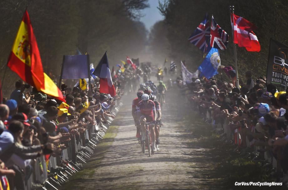 Roubaix - France  - wielrennen - cycling - cyclisme - radsport - Alexander KRISTOFF (Norway / Team Katusha - Alpecin) - Bois de Wallers   pictured during the 115th Paris-Roubaix (1.UWT) - foto NV/PN/Cor Vos © 017