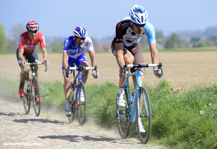 Roubaix - France  - wielrennen - cycling - cyclisme - radsport - Stijn VANDENBERGH (Belgium / Team AG2R La Mondiale)  pictured during the 115th Paris-Roubaix (1.UWT) - foto NV/PN/Cor Vos © 017