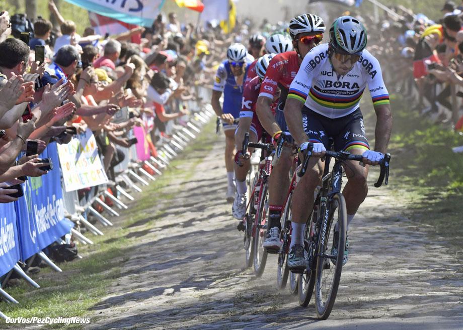 Roubaix - France - wielrennen - cycling - cyclisme - radsport - Peter SAGAN (Slowakia / Team Bora - Hansgrohe) pictured during the 115th Paris-Roubaix (1.UWT) - foto NV/PN/Cor Vos © 017