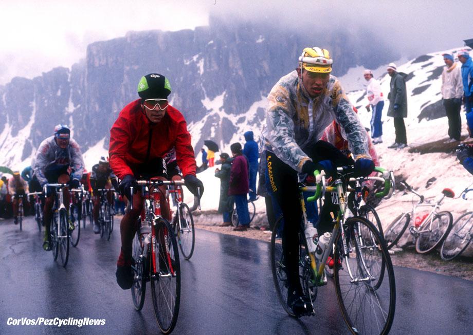 Giro D'Italia 1988, Passo di Gavia, foto Cor Vos © Andy Hampsten