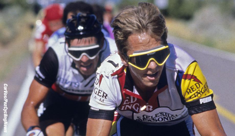 Hoogvliet - wielrennen - cycling - cyclisme - radsport - archive - stock - archief  - Greg Lemond  - foto Cor Vos ©1984