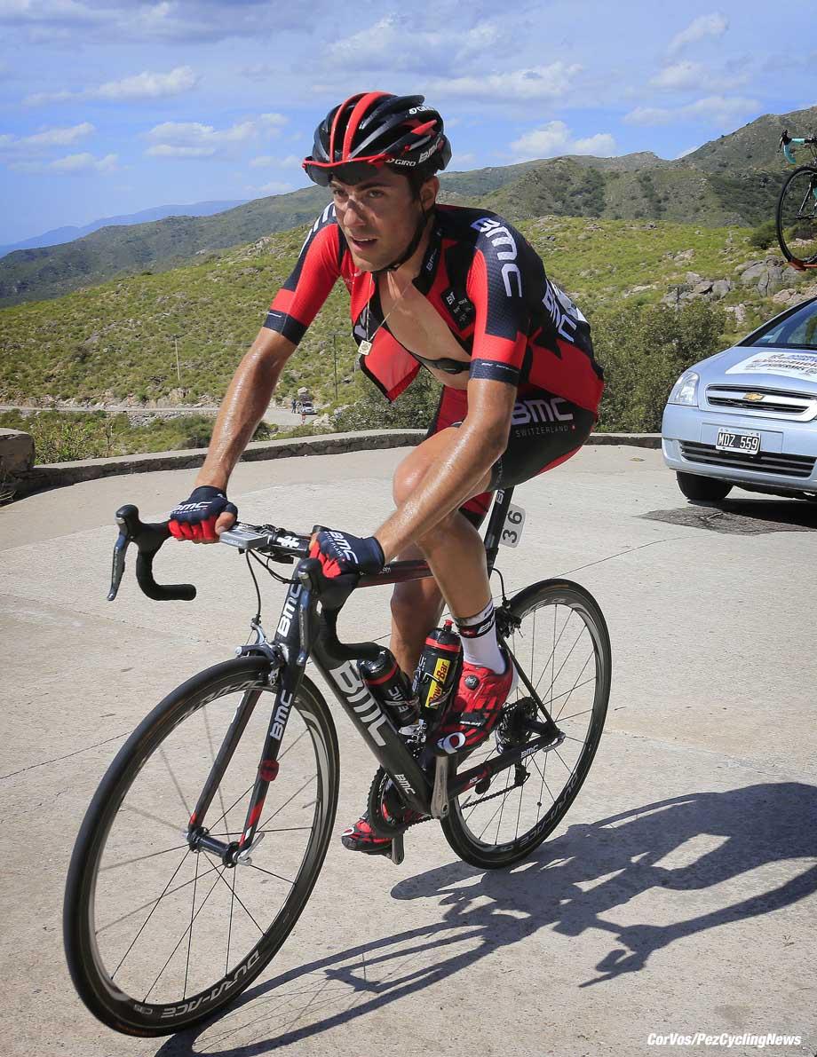 Alto del Amago  - Argentina - wielrennen - cycling - radsport - cyclisme -  Larry Warbasse (BMC) pictured during Tour de San Luis 2014 - Stage 4 from  El Potrero de los Funes to  Alto del Amago 168.7 km - 23/01/2014  - photo RB/Cor Vos © 2014