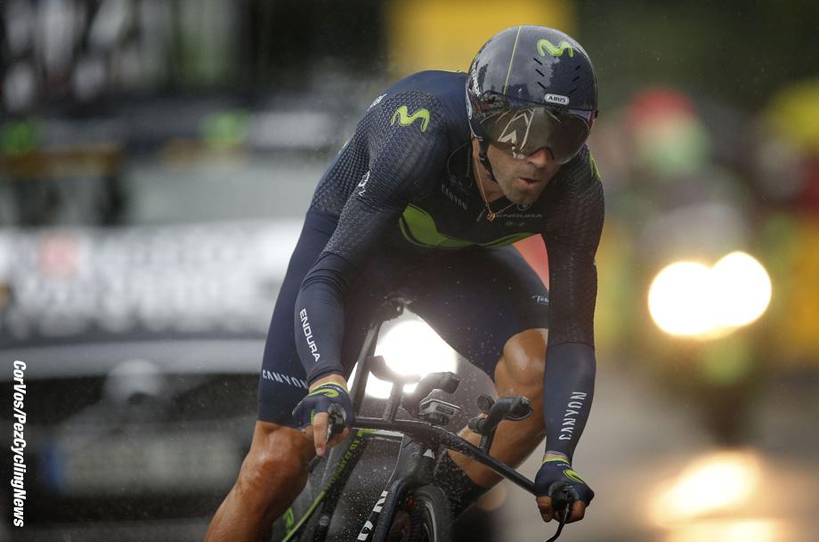 Düsseldorf - Germany - wielrennen - cycling - cyclisme - radsport - Alejandro VALVERDE BELMONTE (Spain / Team Movistar) pictured during the 104th Tour de France 2017 - stage 1 - Düsseldorf ITT, 14.00 km - Time Trial - individual - foto Marketa Navratilova/Cor Vos © 2017