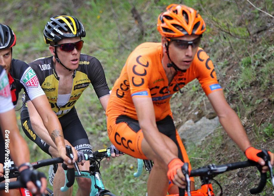 Solden - Austria - wielrennen - cycling - radsport - cyclisme - Jan HIRT (Czech / Team CCC Sprandi Polkowice) - Steven KRUIJSWIJK (Netherlands / Team Lotto NL - Jumbo)  pictured during stage - 7 of the Tour de Suisse 2017 - from Zernez - Solden, 160.80 km - photo Rene Vigneron/Cor Vos © 2017
