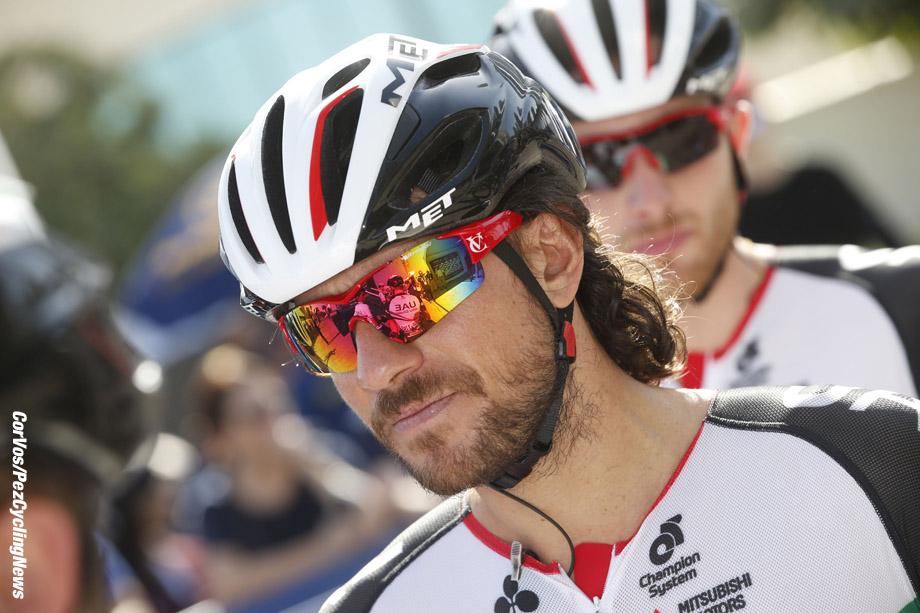 Nakheel - Dubai - wielrennen - cycling - radsport - cyclisme -   Roberto Ferrari (ITA - UAE Abu Dhabi) pictured during  stage - 1 of the Dubai Tour 2017 - 181 km - 31/01/2017 - photo LB/RB/Cor Vos © 2017