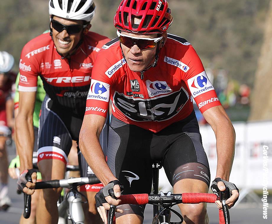 Santo Toribio de Liebana - Spain - wielrennen - cycling - cyclisme - radsport - Chris - Christopher FROOME (GBR / Team Sky)  - Alberto CONTADOR VELASCO (Spain / Team Trek Segafredo) pictured during La Vuelta ciclista a Espana 2017 (2.UWT) stage 18 from Suances - Santo Toribio de Liebana (169 km) - photo Luis Gomez/Cor Vos © 2017