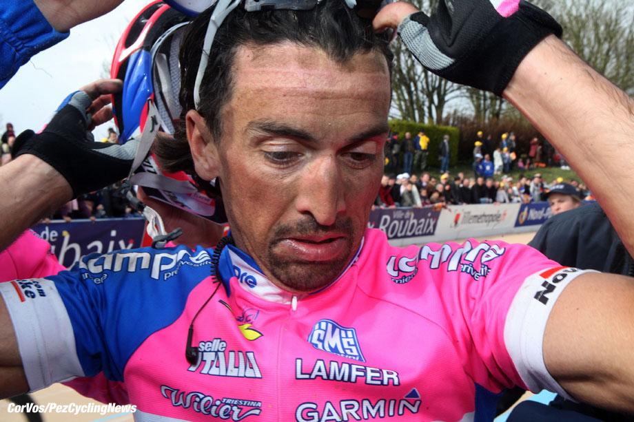 Roubaix - France - wielrennen - cycling - radsport - cyclisme - Paris-Roubaix 2008 -  Fabio Baldato (Lampre) -  foto Marketa Navratilova/Mirek Dongres/Cor Vos ©2008