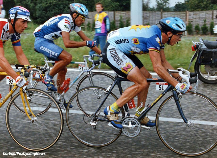 Greg Lemond - Johan Capiot en Claudio Chiappucci- foto Cor Vos ©2004