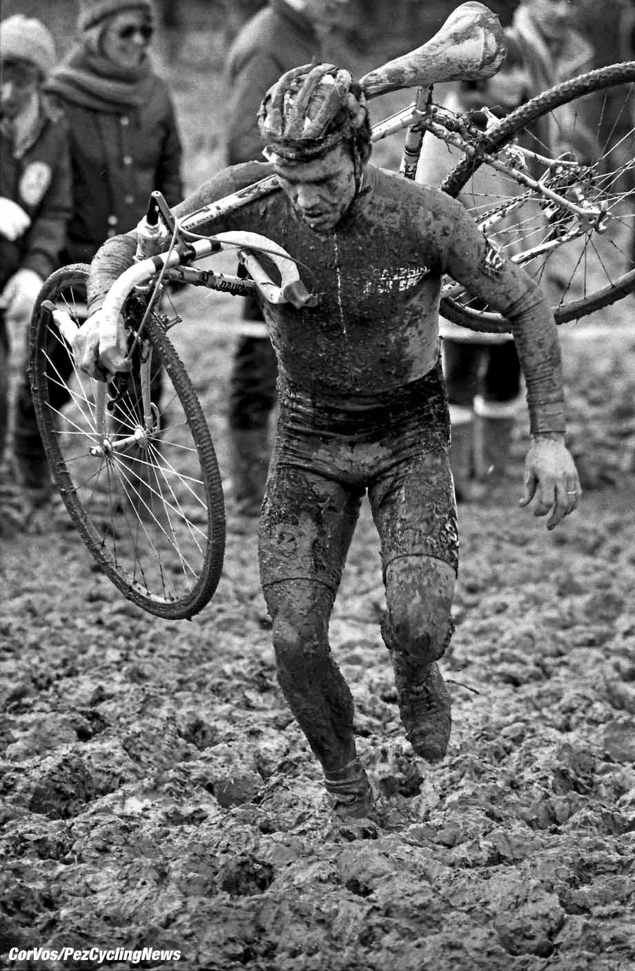 Hoogvliet - Nederland - wielrennen - cycling - cyclisme - radsport - Stephen DOUCE (GBR)  pictured during Rad-Querfeldein - Cross - Cyclocross 1986 - photo Cor Vos © 2017