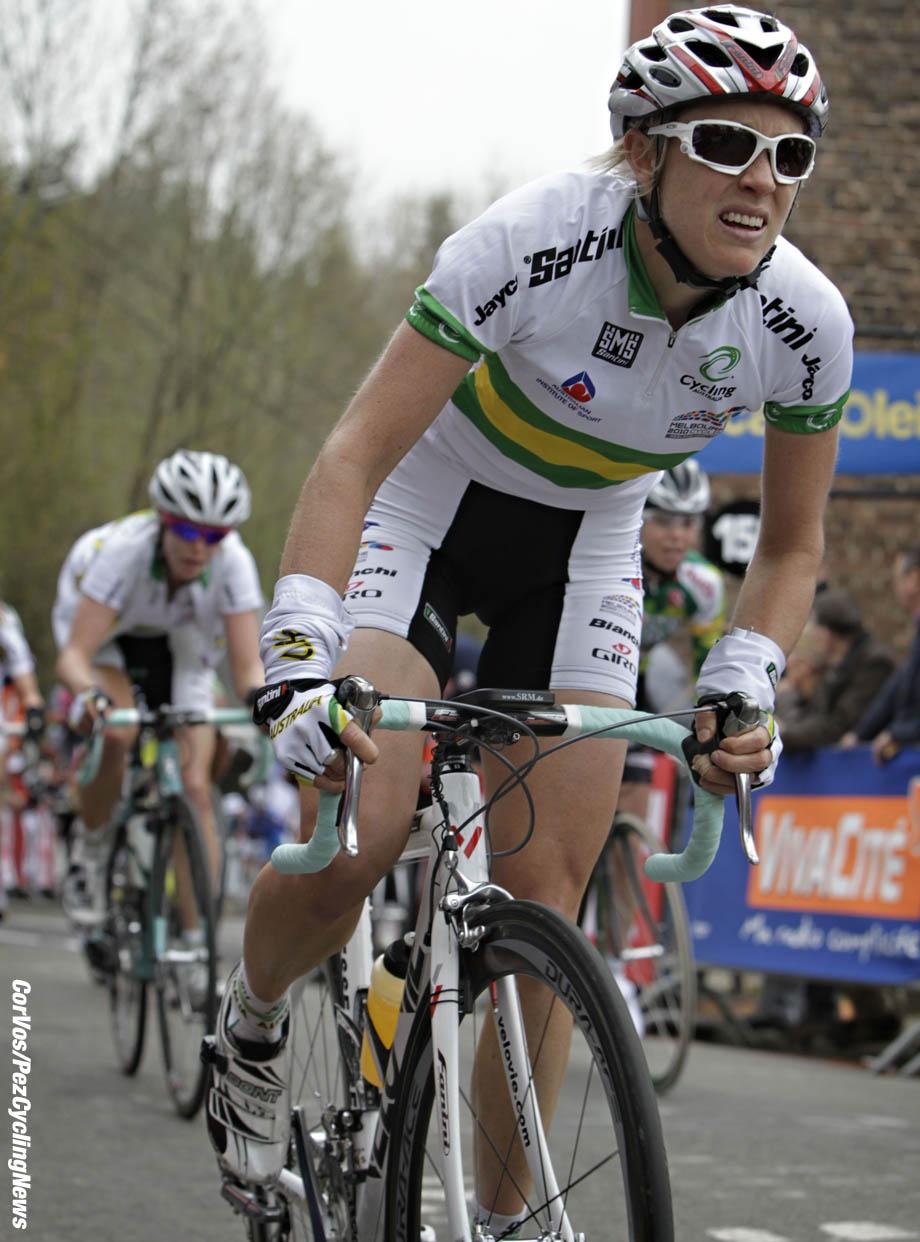 Hoei - Belgie - wielrennen - cycling - radsport - cyclisme - Fleche Wallone - Waalse Pijl 2010 - Rachel Neylan - foto Wessel van Keuk/Cor Vos ©2010