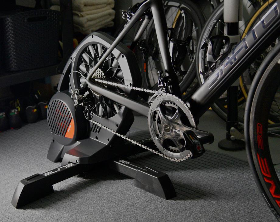Elite direto trainer bike attached