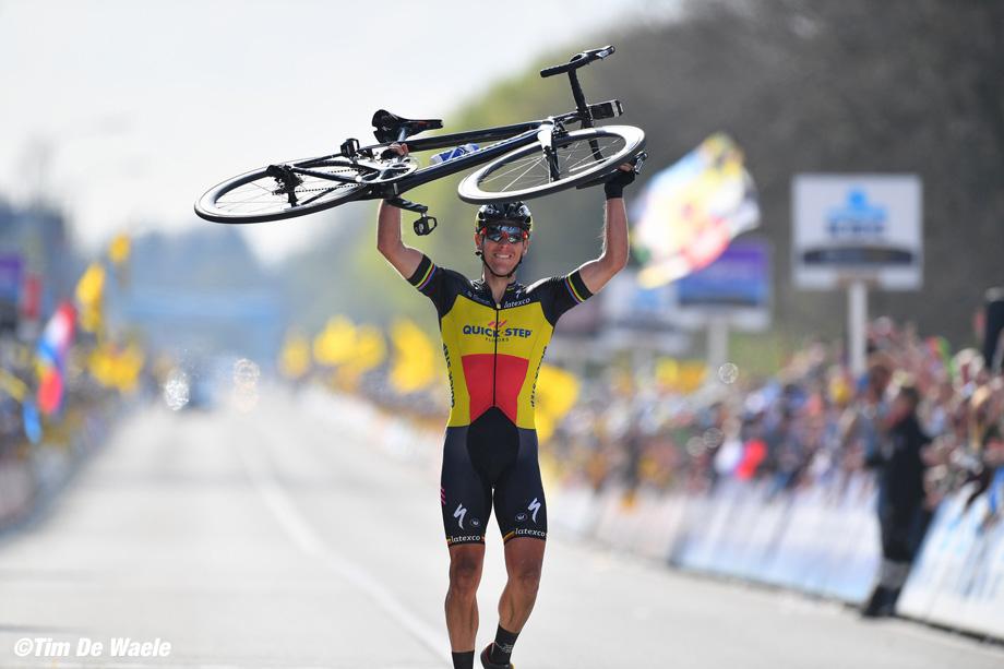 Cycling: 101st Tour of Flanders 2017 / MenArrival / Philippe GILBERT (BEL)/ Celebration / Antwerpen - Oudenaarde (260km)/ Men / Ronde Van Vlaanderen / Tour of Flanders / RVV / © Tim De Waele