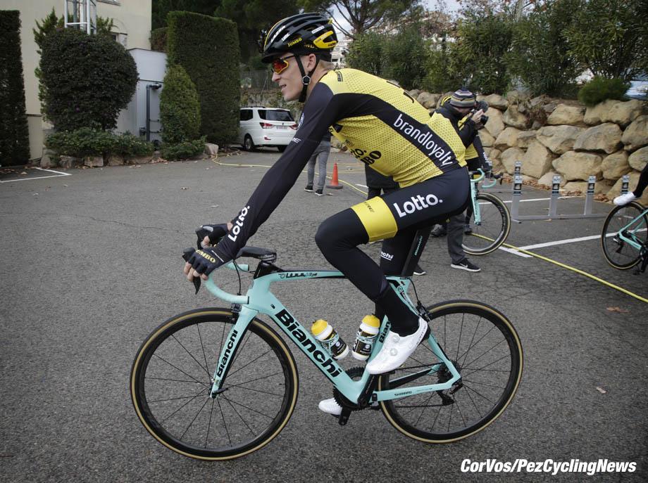 Sant Feliu de Guixois  - wielrennen - cycling - cyclisme - radsport - Robert GESINK (Netherlands / Team Lotto NL - Jumbo) pictured during trainingscamp Team LottoNL-Jumbo in Spain on december 21-2017 - foto: Carla Vos/Cor Vos © 2017