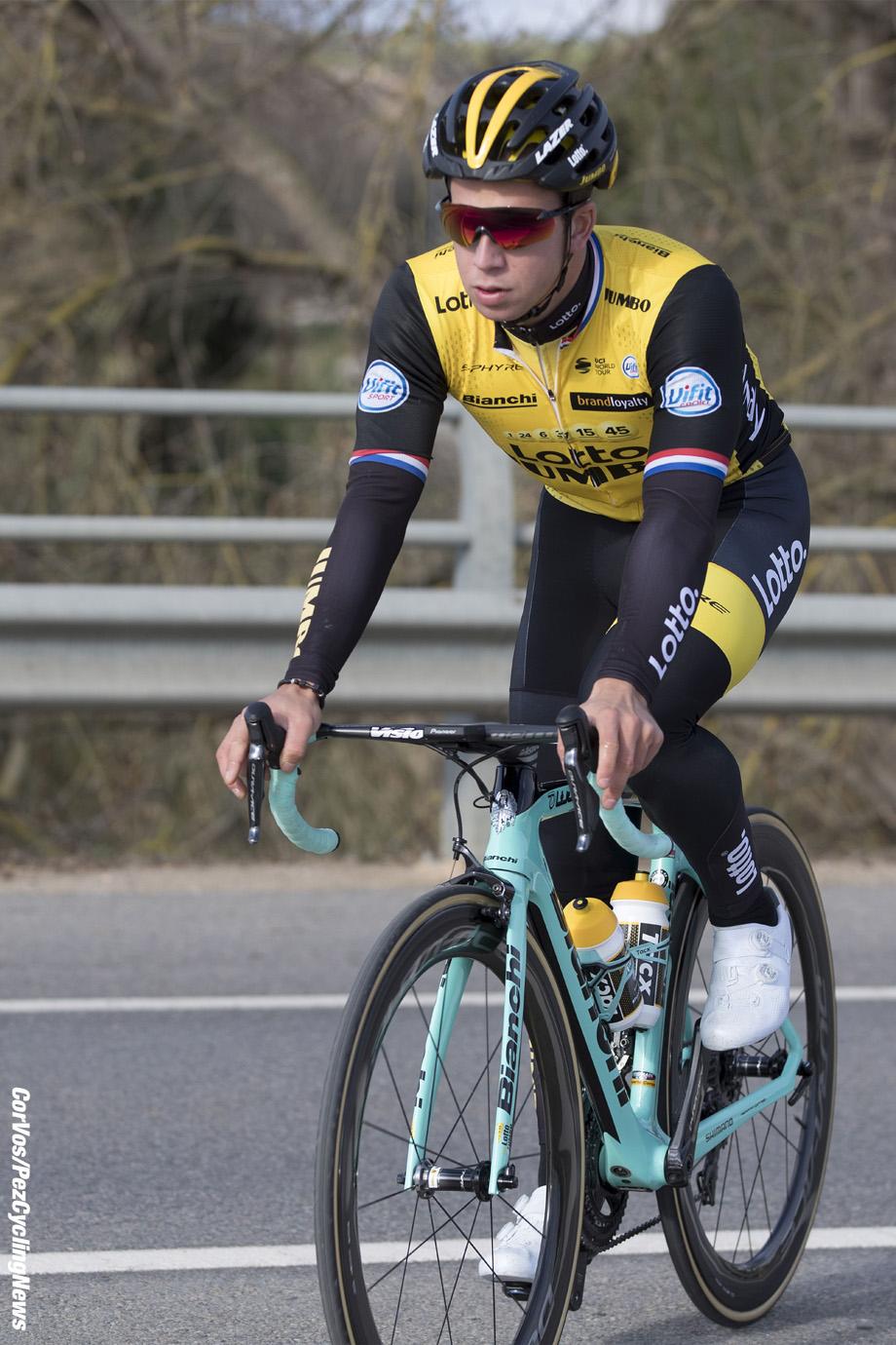 Sant Feliu de Guixois  - wielrennen - cycling - cyclisme - radsport -  Dylan GROENEWEGEN (Netherlands / Team Lotto NL - Jumbo) pictured during trainingscamp Team LottoNL-Jumbo in Spain on december 21-2017 - foto: Carla Vos/Cor Vos © 2017