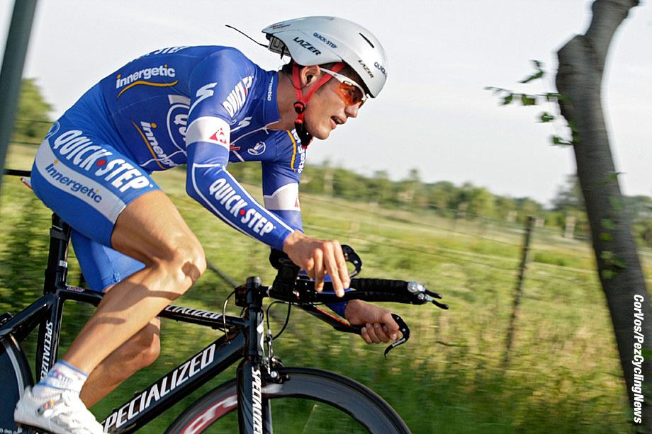Schijndel - wielrennen - cycling - radsport - cyclisme - Ster ElektroToer - 1e etappe proloog - Davide Vigano (Ita-Quick Step) - foto Cor Vos ©2007