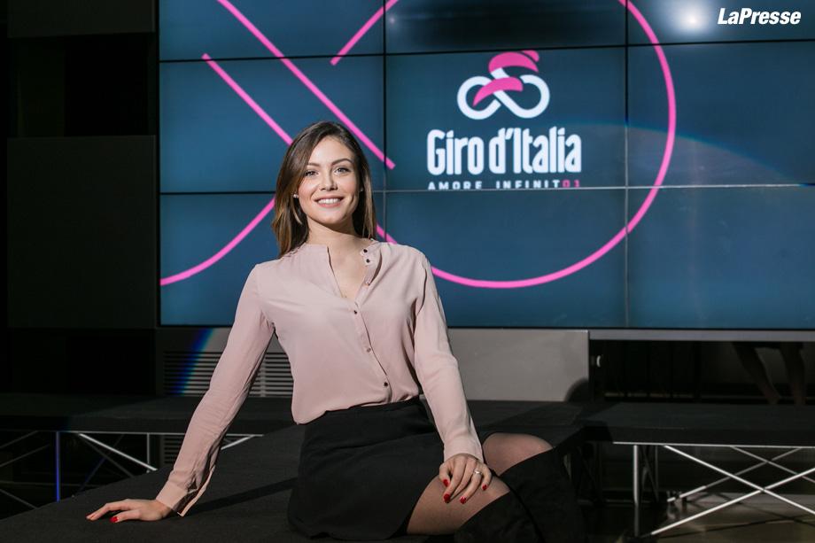 Foto LaPresse -Stefano De Grandis 15/01/2017  Milano  presentazione Maglia 101° giro d'Italia  con Alice Arlach, madrina.