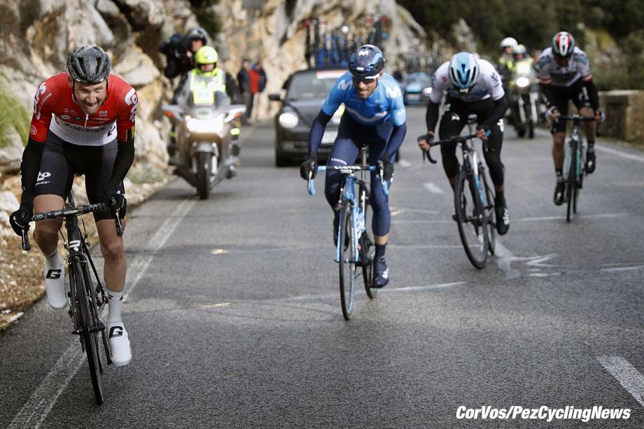 Mallorca - Spain - wielrennen - cycling - cyclisme - radsport -  Tim WELLENS (Belgium / Team Lotto Soudal) - Alejandro VALVERDE BELMONTE (Spain / Team Movistar) pictured during the Trofeo Serra de Tramuntana (1.1) a one Day Race from Serra de Tramuntana to Deia (140.1KM) - photo Luis GomezCor Vos © 2018