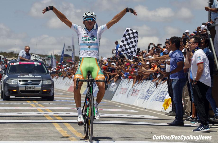 Alto de Colorado - Argentina- wielrennen - cycling - cyclisme - radsport - Gonzalo Njar (Sep Argentina ARG) pictured during Vuelta a San Juan 2017 - 36th Edition - stage 5 - from  San Martín  :  Alto de Colorado (169.5KM) - photo ilario Biondi/LB/RB/Cor Vos © 2018