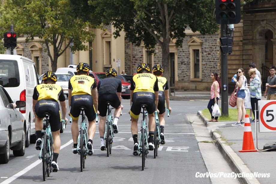 Adelaide - Australie - wielrennen - cycling - cyclisme - radsport - illustration - sfeer - illustratie - Team LottoNL-Jumbo - training - recon Tour Down Under 2018 in Adelaide, Australie -photo Dion Kerckhoffs/Cor Vos© 2018