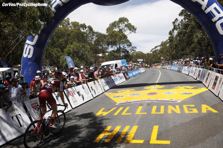 Willunga Hill - Australia - wielrennen - cycling - cyclisme - radsport - illustration - scenery - carte postal scenic shot - postcard sfeerfoto - sfeer - illustratie pictured during 20th Santos Tour Down Under (2.UWT) stage -5 from McLaren Vale to Willunga Hill (151.5KM) - photo Dion Kerckhoffs/Cor Vos © 2018