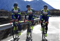 Benidorm, -Spain - wielrennen - cycling - cyclisme - radsport - VANSPEYBROUCK Pieter (BEL) Rider of Wanty - Groupe Gobert, MCNALLY Mark (GBR) Rider of Wanty - Groupe Gobert and DUPONT Timothy (BEL) Rider of Wanty - Groupe Gobert pictured in action during a Wanty - Groupe Gobert team training session on January 10, 2018 in Benidorm, Spain - foto: NV/PN/Cor Vos © 2018