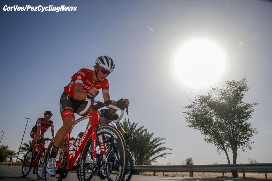 Adnoc School - Abu Dhabi - wielrennen - cycling - cyclisme - radsport -  Toms SKUJINS (Letland  / Team Trek Segafredo) pictured during the 2018 Abu Dhabi Tour stage 1 from Madinat Zaya to Adnoc School (189KM) - photo LB/RB/Cor Vos © 2018