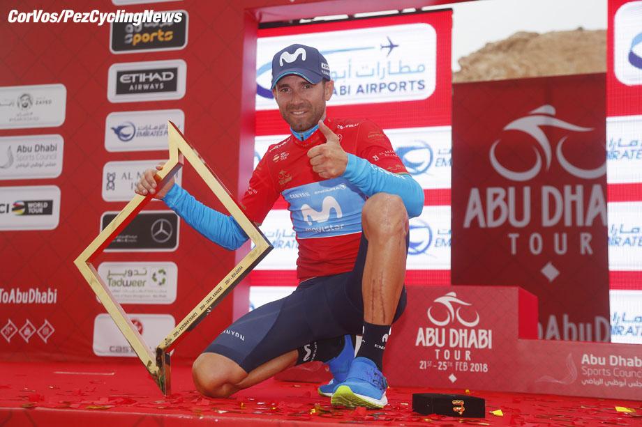 Jebel Hafeet - Abu Dhabi - wielrennen - cycling - cyclisme - radsport - Alejandro Valverde (ESP - Movistar) pictured during the 2018 Abu Dhabi Tour stage 5 from Qasr Al Muwaiji to Jebel Hafeet (199KM) - photo LB/RB/Cor Vos © 2018