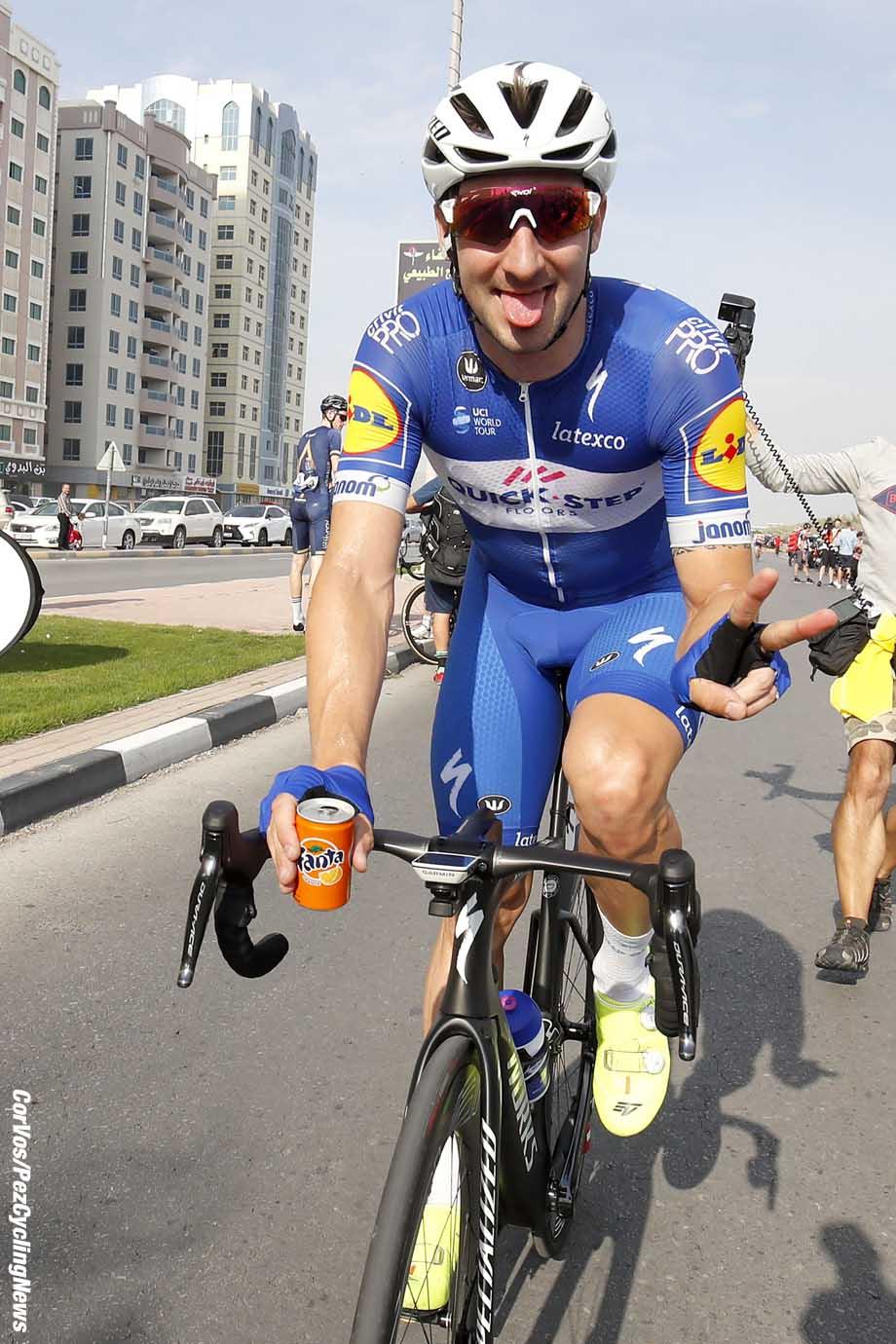 Ras al Khaimah - Dubai - wielrennen - cycling - cyclisme - radsport - Elia Viviani (ITA - QuickStep - Floors) pictured during the 2018 Dubai Tour stage 2 - from Skydive Dubai to Ras al Khaimah (190KM) - photo LB/RB/Cor Vos © 2018