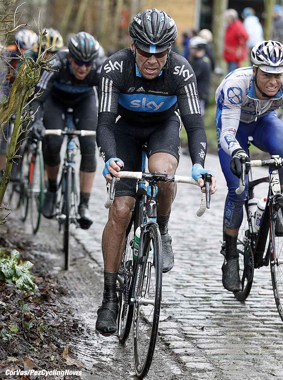 Gent - Belgie - wielrennen - cycling - radsport - cyclisme - Omloop Het Nieuwsblad 2011 -   Jeremy Hunt (Team Sky)  - foto Cor Vos ©2011