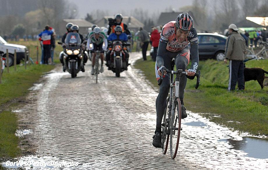 Lokeren -  - wielrennen - cycling - radsport - Omloop Het Volk - Bert Roesems (Lotto Predictor)  - foto Cor Vos ©2007