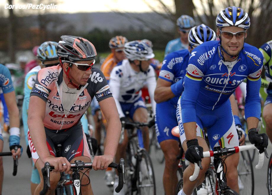 Kuurne - wielrennen - cycling - cyclisme - radsport - Kuurne-Brussel-Kuurne - Leif Hoste (Lotto Predictor) Tom Boonen (Quickstep) - foto Cor Vos ©2007