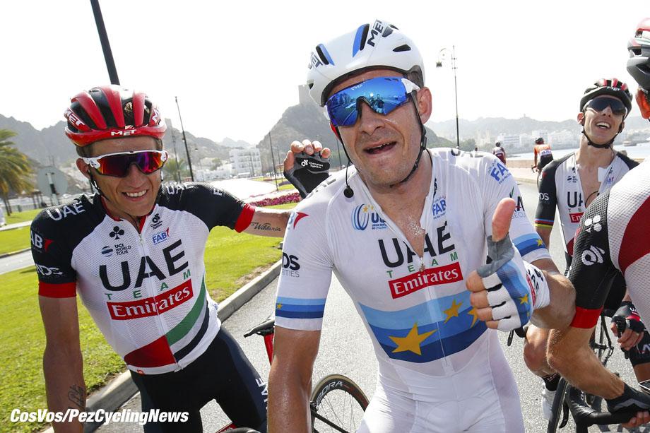 Matrah Corniche - Oman - wielrennen - cycling - cyclisme - radsport - Alexander Kristoff (NOR - UAE Team Emirates) - Przemyslaw Niemiec (POL - UAE Team Emirates) pictured during the 2018 Tour of Oman stage - 6 from Al Mouj Muscat to Matrah Corniche (135.5KM) Sultanate of Oman, 18/02/2018 - photo LB/RB/Cor Vos © 2018