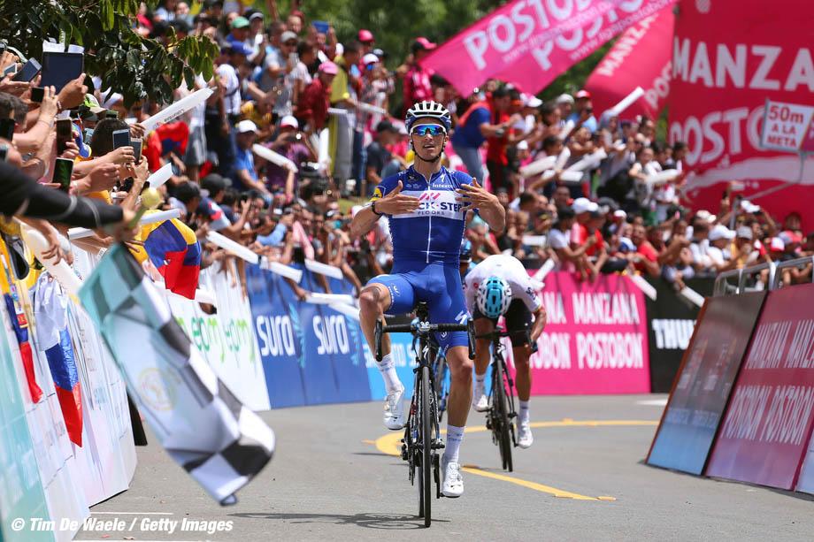 Cycling: 1st Colombia Oro y Paz 2018 / Stage 4 Arrival / Julian Alaphilippe (FRA) Celebration / Sergio Henao Montoya (COL)/ Buga - El Tambo 1770m (149,5km)/ © Maximiliano Blanco