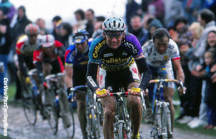 Roubaix - France  - wielrennen - cycling - cyclisme - radsport - Adri VAN DER POEL  pictured during Paris-Roubaix 1994 - archief - stock - archive - archivbild -  photo Cor Vos © 2017