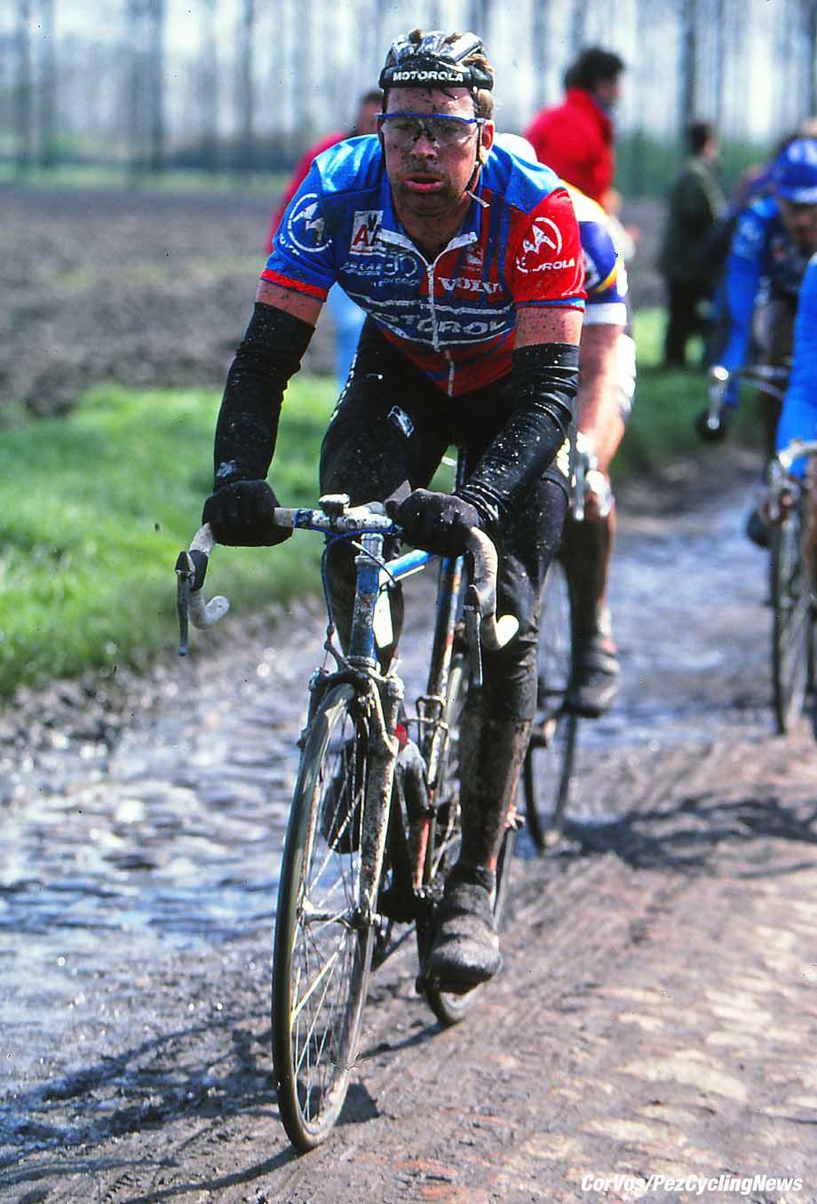 Roubaix - France  - wielrennen - cycling - cyclisme - radsport - Sean YATES  pictured during Paris-Roubaix 1994 - archief - stock - archive - archivbild -  photo Cor Vos © 2017