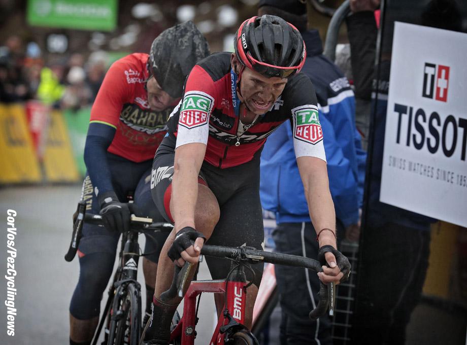 Valdeblore La Colmiane - France - wielrennen - cycling - cyclisme - radsport - Dylan TEUNS (Belgium / BMC Racing Team) - Ion IZAGIRRE INSAUSTI (Spain / Team Bahrain - Merida) pictured during Paris - Nice stage 7 from Nice to Valdeblore La Colmiane (175KM) - 10/03/2018 - photo IB/LB/RB/Cor Vos © 2018