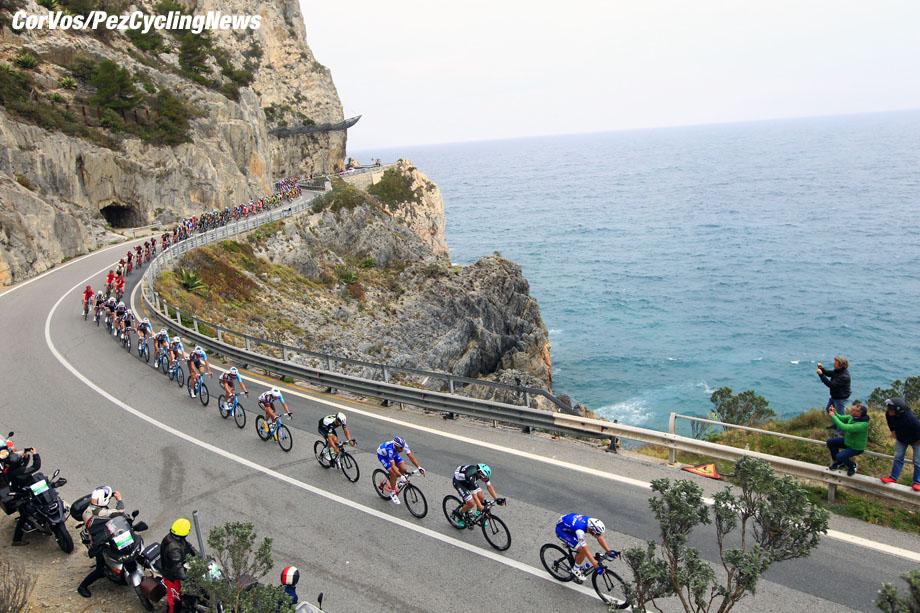 Sanremo - Italy - wielrennen - cycling - radsport - cyclisme - illustration - scenery - carte postal scenic shot - postcard sfeerfoto - sfeer - illustratie pictured during Milano - Sanremo 2017 - photo Claudio Minardi/BS/Cor Vos © 2017