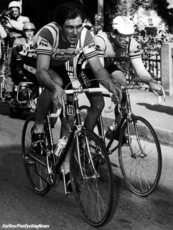 Alain Bondue en Marc Gomez in Milano-Sanremo. foto Cor Vos©