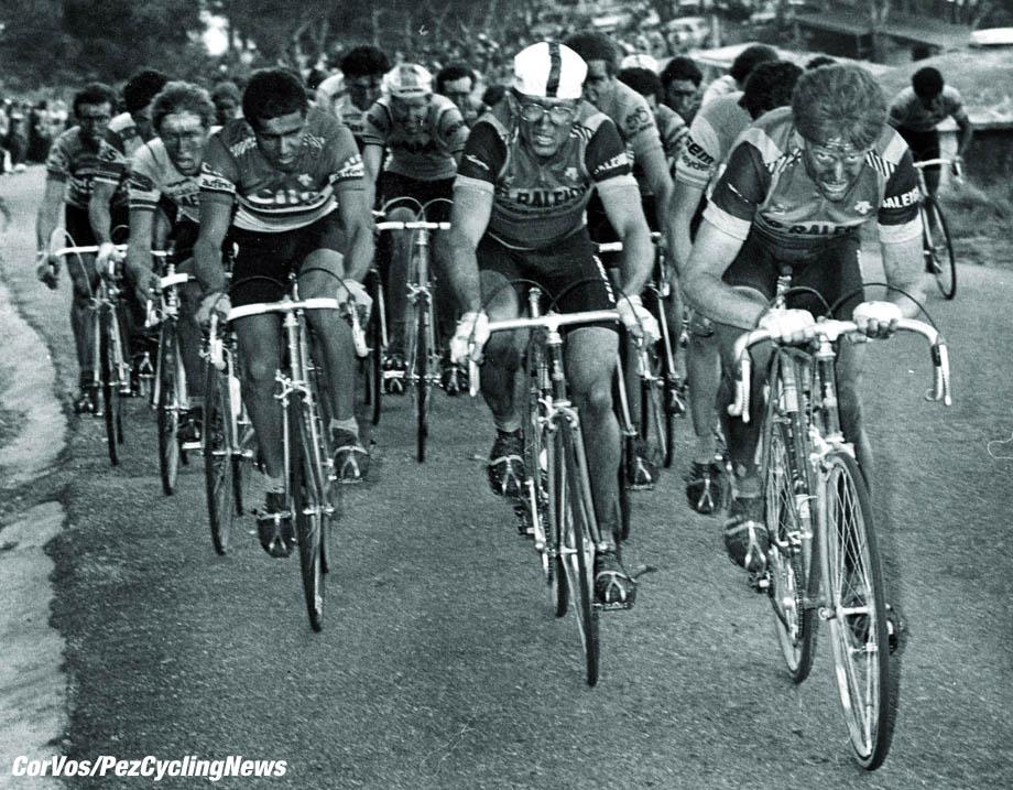Hoogvliet - wielrennen - cycling - cyclisme - radsport - Archief - Archive - Jan Raas - Milano - Sanremo met rechts Bert Oosterbosch - foto Cor Vos ©2007