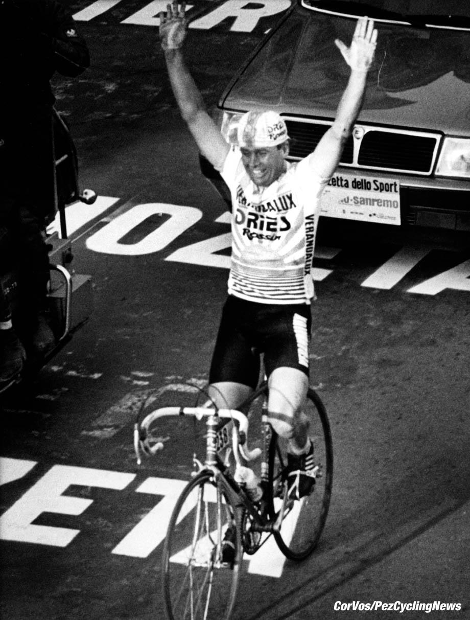 Hoogvliet - archive - archief - stock  - wielrennen - cycling - radsport - cyclisme - Hennie Kuiper (Verandalux) - Milano - Sanremo - foto Cor Vos ©2008