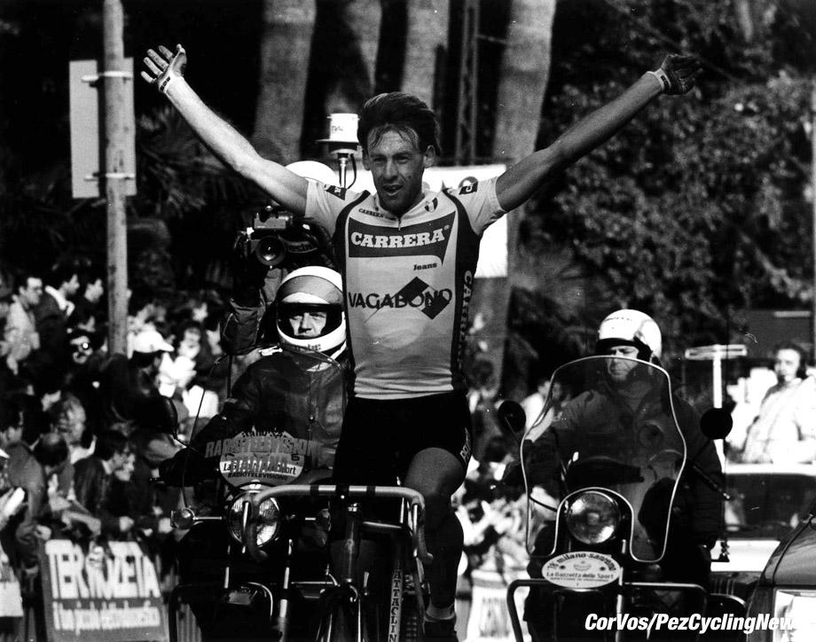 Erich Maechler wint Milano-Sanremo. foto Cor Vos©