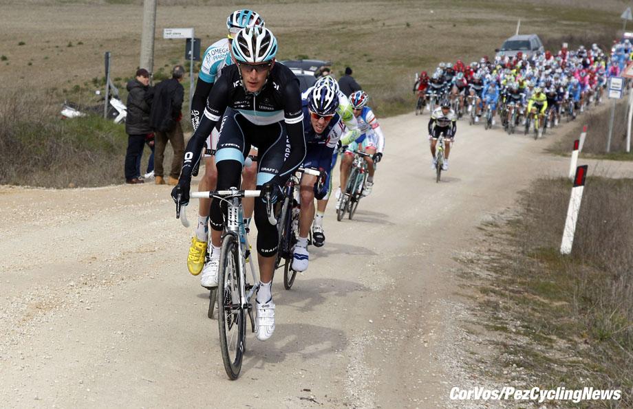 Siena - Italia - wielrennen - cycling - radsport - cyclisme - Montepaschi Strade Bianche - Eroica Toscana. - Frank Schleck (Leopard - Trek)  - foto Cor Vos ©2011