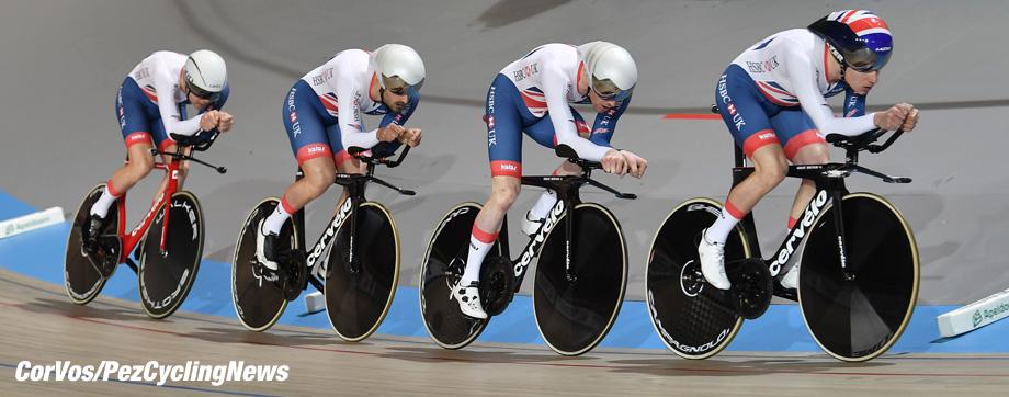 Apeldoorn - Netherlands - wielrennen - cycling - cyclisme - radsport - Engelenad Great Brittain GBR pictured during World Championships track - baan - bahn - piste - foto: Marc van Hecke/Cor Vos ©2018